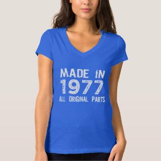 HECHO en 1977 toda la camiseta ORIGINAL de las Camisas