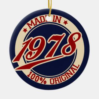Hecho en 1978 adorno redondo de cerámica
