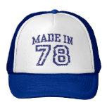 Hecho en 1978 gorras