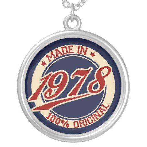 Hecho en 1978 joyeria personalizada