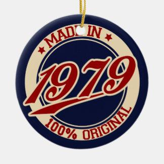 Hecho en 1979 adorno redondo de cerámica