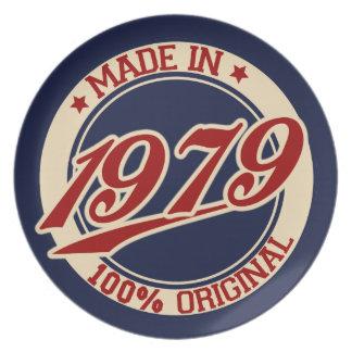 Hecho en 1979 platos para fiestas