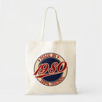 Hecho en 1980 bolsas lienzo