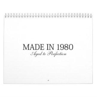 Hecho en 1980 calendarios de pared