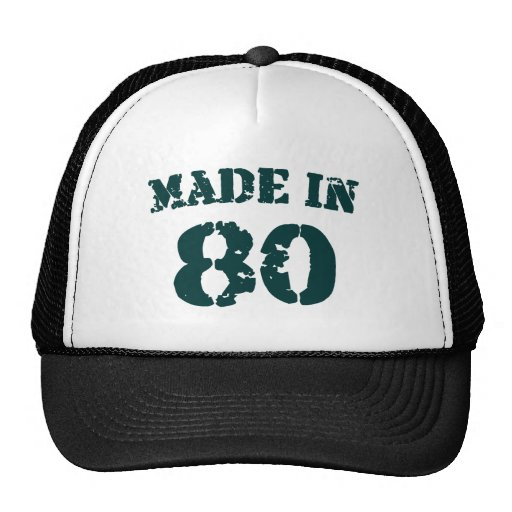 Hecho en 1980 gorras