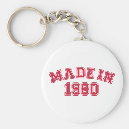 Hecho en 1980 llaveros personalizados