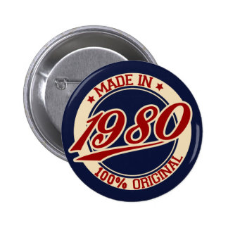 Hecho en 1980 pin