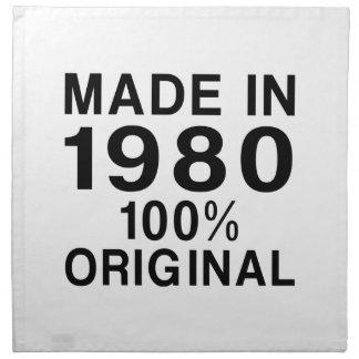 Hecho en 1980 servilleta