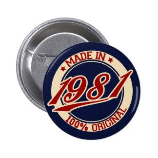 Hecho en 1981 pin