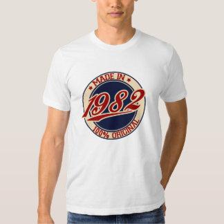 Hecho en 1982 camisas