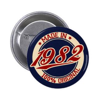 Hecho en 1982 pin redondo de 2 pulgadas