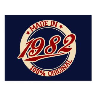 Hecho en 1982 postal