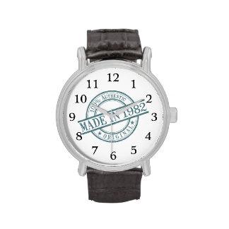 Hecho en 1982 relojes de mano
