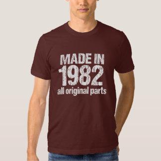 HECHO en 1982 toda la camiseta ORIGINAL de las Playera