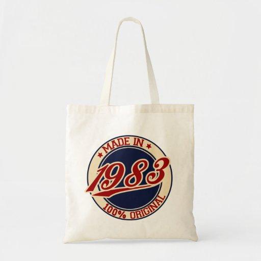 Hecho en 1983 bolsa tela barata