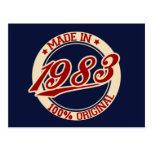 Hecho en 1983 postales
