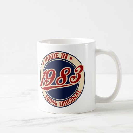 Hecho en 1983 taza de café