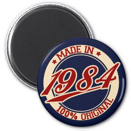 Hecho en 1984 imán redondo 5 cm