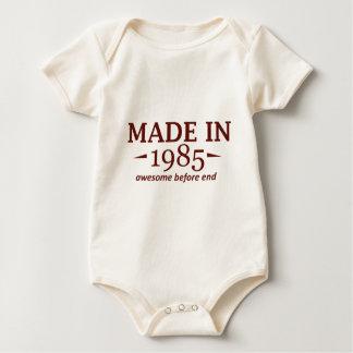 Hecho en 1985 mameluco de bebé