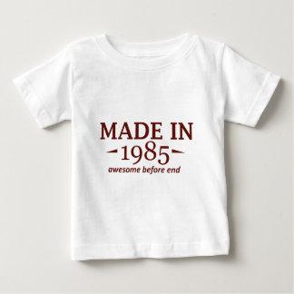 Hecho en 1985 playera de bebé