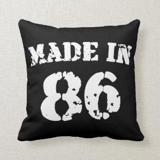 Hecho en 1986 almohadas
