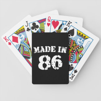 Hecho en 1986 baraja cartas de poker