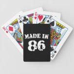 Hecho en 1986 barajas de cartas
