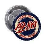 Hecho en 1986 pins