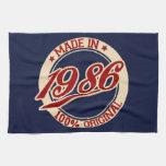 Hecho en 1986 toalla