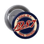 Hecho en 1987 pins