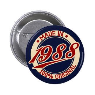 Hecho en 1988 pin