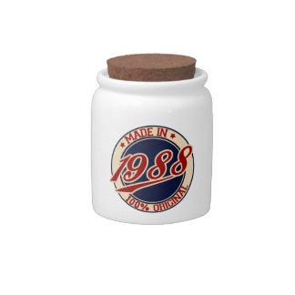 Hecho en 1988 platos para caramelos
