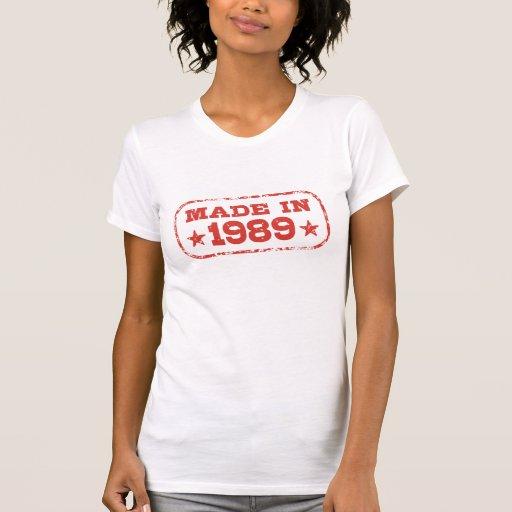 Hecho en 1989 camisetas