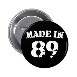 Hecho en 1989 pin