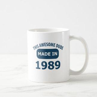 Hecho en 1989 taza básica blanca