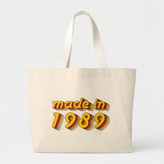 Hecho en 1989 (Yellow&Red) Bolsa De Tela Grande