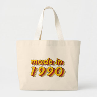 Hecho en 1990 (Yellow&Red) Bolsa Tela Grande