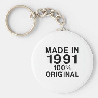 Hecho en 1991 llavero redondo tipo pin
