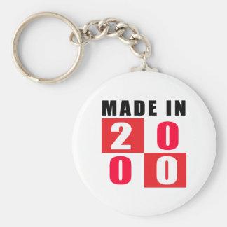 Hecho en 2000 llaveros personalizados
