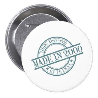 Hecho en 2000 pin redondo 7 cm