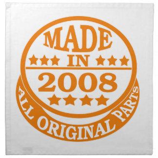 Hecho en 2008 todas las piezas de la original servilleta