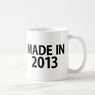 Hecho en 2013 tazas de café
