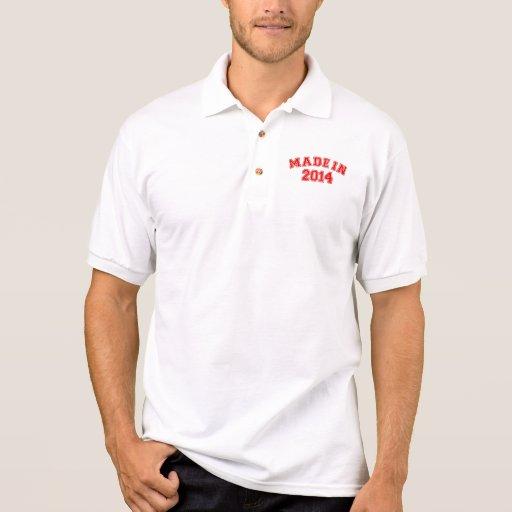 Hecho en 2014 camiseta polo