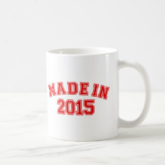 Hecho en 2015 tazas de café