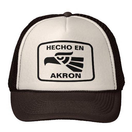 Hecho en Akron personalizado custom personalized Trucker Hat