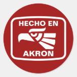 Hecho en Akron personalizado custom personalized Classic Round Sticker