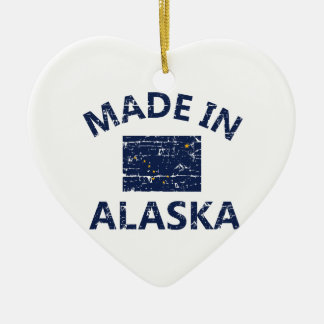 Hecho en Alaska Adorno Navideño De Cerámica En Forma De Corazón