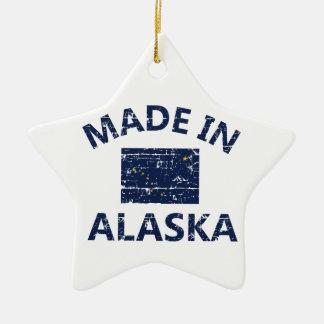 Hecho en Alaska Adorno Navideño De Cerámica En Forma De Estrella