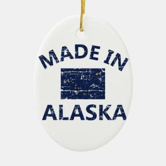 Hecho en Alaska Adorno Navideño Ovalado De Cerámica