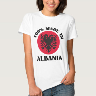 Hecho en Albania Playeras